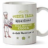 MUGFFINS Tazza Cuoca (Migliore dell' Universo) - Idee Regali Originali Ospitalità