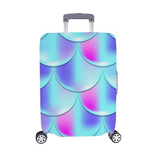 Mermaid Fish Scale Holographic Spandex Trolley Case Travel Luggage Protector Suitcase Cover 28.5 X 20.5 Inch
