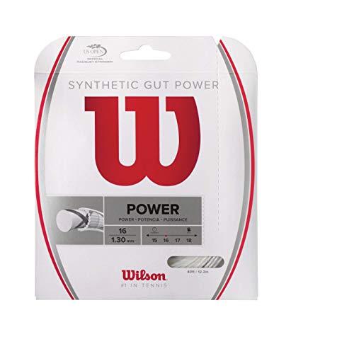 Wilson Synthetic Gut Power 40-Feet Tennis String Set, White, 16