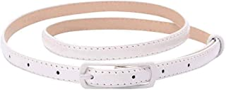 Selighting Womens Faux Leather Skinny Belts for Dresses