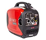 A-iPower SUA2000iV 2000 Watt Portable Inverter Generator Quiet Operation, Lightweight