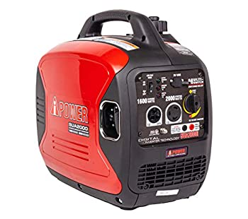 A-iPower SUA2000iV 2000 Watt Portable Inverter Generator Gas Powered Small with Super Quiet Operation for Home RV or Emergency