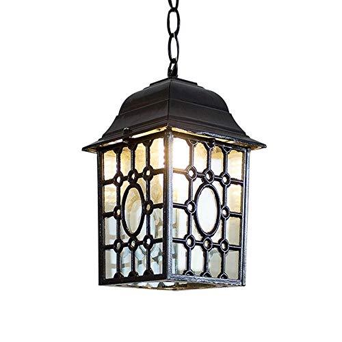 Iluminación de Cocina para el hogar Colgante Araña, elegante impermeable simple lámpara de araña de hierro forjado Jardín Jardín retro de la lámpara al aire libre País Villa Jardín ala del balcón de l