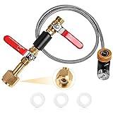 Soda Stream Refill Adapter Kit - CO2 Refill Adapter Cylinder Fill Station Connector Kit,Soda Maker...