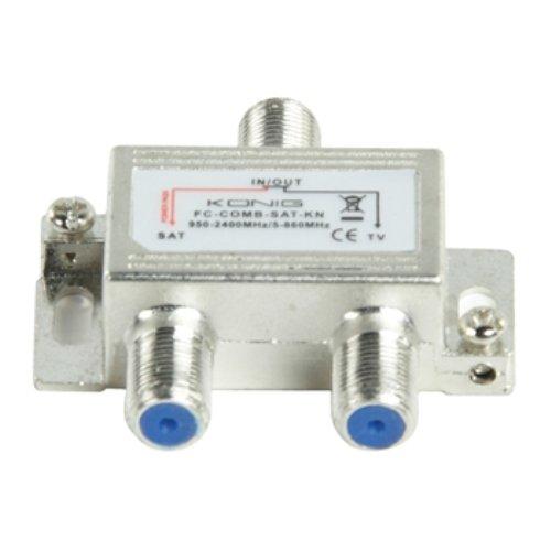 Konig FC-COMB-SAT-KN Miscelatore SAT UHF VHF, Acciaio