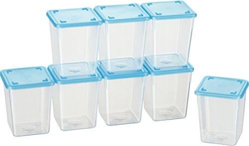 Kigima Mini-Tiefkühldose quadratisch - 250ml - 8er Set