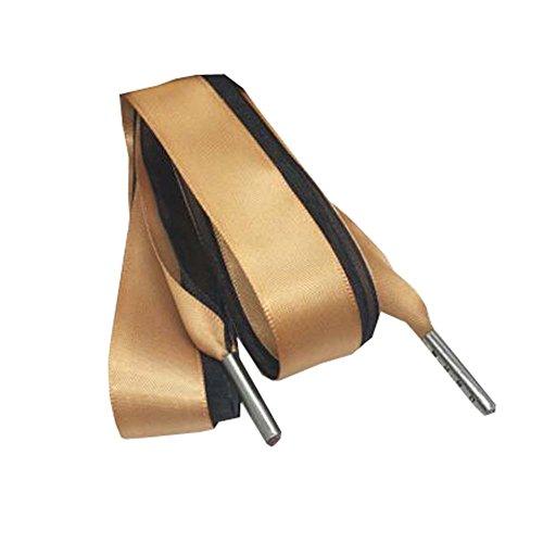 Black Temptation Lacets de Ruban de Satin de Mode des Femmes, Lacets de Chaussure pour des Chaussures de Couleur Unie 120cm - H
