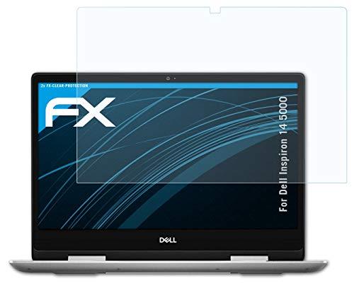 atFolix Schutzfolie kompatibel mit Dell Inspiron 14 5000 Folie, ultraklare FX Bildschirmschutzfolie (2X)