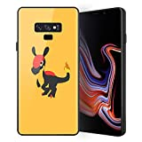 for Galaxy Note 9, Pocket Monsters 696 Design Tempered Glass Phone Case, Anti-Scratch Soft Silicone Bumper Ultra-Thin Galaxy Note 9 Cover for Teens and Adults