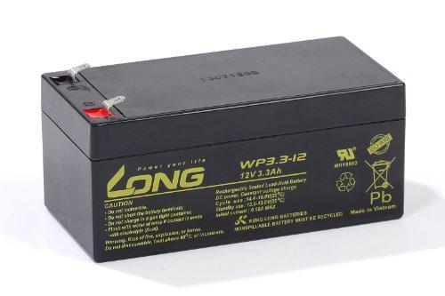 Bleiakku Batterie Kung Long WP3.3-12 12V 3,3Ah AGM Blei Accu wartungsfrei