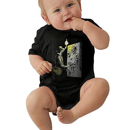 DianaHodge Indiana Jones Han Solo Carbonite Infant Bodysuit Creeper Baby Romper Jumpsuit Short-Sleeve Onesie Black