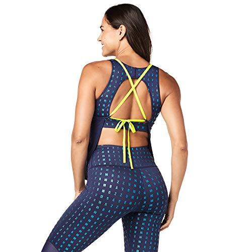 Zumba Camiseta de Entrenamiento Transpirable con Sexy Espalda Abierta para Mujer X-Pequeña Cielo Oscuro