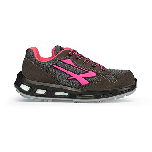 U POWER Verok S1p SRC - Scarpe Antinfortunistiche Unisex Adulto, Rosa (Rose 000), 39 EU