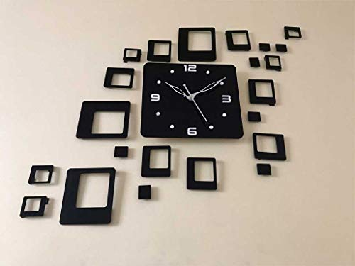 Arvi 3D Antique Collection Acrylic Wall Clock Design, for Living Room, Bedroom Wall, Home and Office