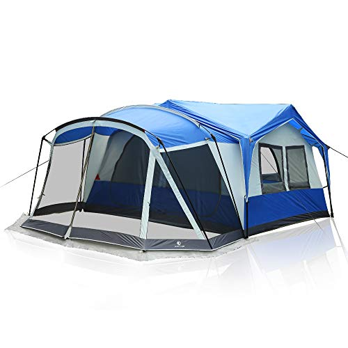 ALPHA CAMP Family Camping Tent with Screen Room