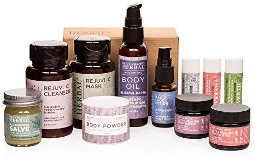 Amazing Herbal Self Care Gift Set, Gifts For Women Who Have Everything, Thoughtful Gifts for Women, Small Batch Chemical Free Skincare, Ora's Amazing Herbal, Paraben-free, Organic Skin Care