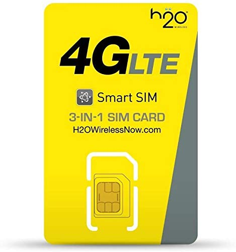 H2O Wireless $30 Plan SIM Starter Kit (for US) - Long Term (31days or More) | First Month & Activation Instruction Included | LTE Data + International Talk & Text | by H2O Wireless Japan ($30LT)