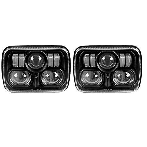 HAIHAOYF Faros LED, lámpara de luz de Cabeza de viga sellada con luz Alta de luz Baja, luz de Faros LED para fit for Jeep Wrangler YJ Cherokee XJ (Color : Style I)