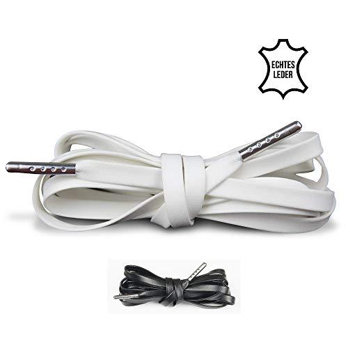 LaceHype Lederschnürsenkel Schnürsenkel aus Leder geeignet für Nike Air Max, Nike Air Force, Nike Air Jordan Sportschuhe, Schnürbänder | 1 Paar Premium Shoelaces
