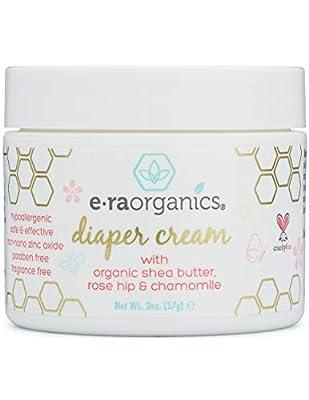 Diaper Rash Cream Natural & Organic – Extra Soothing Zinc Oxide Diaper Rash Treatment with Aloe Vera, Chamomile, Calendula, Rose Hip & More – for Dry, Sensitive, Irritated Skin 2oz Era-Organics