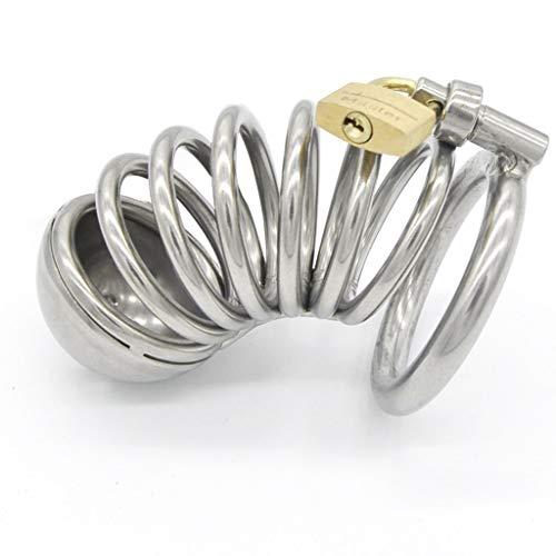 CJWWEI Männliches Metall C'Hàstîty Lock Masculine Pē-Nīs Lock Gute Luftdurchlässigkeit Edelstahl Primärfarbe (Size : L)