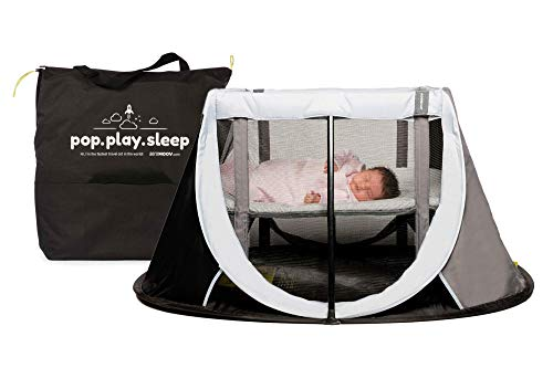 Imagen para Cuna de Viaje para bebé Aeromoov plegable e instantánea con colchón configurable a dos alturas y bolsa de transporte (color gris oscuro)