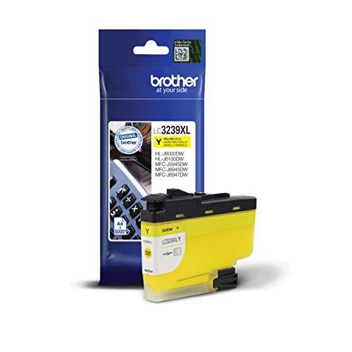 Brother Original Tintenpatrone LC-3239XLY Gelb (für Brother HL-J6000DW, HL-J6100DW, MFC-J5945DW, MFC-J6945DW, MFC-J6947DW) ca. 5000 Seiten nach ISO Standard 24711