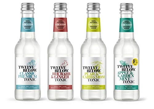 8 x Mixed 500ml Twelve Below Tonic (2 of Each) Low Sugar Tonic Water