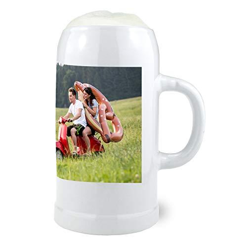Bavariashop Steinkrug - personalisiert mit Wunschfoto - Fotokrug, individuell mit eigenem Foto
