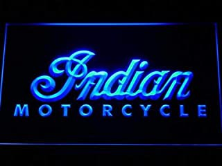 DiMike Indian Motorcycle Led Light Neon Sign (Blue)