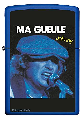 ZIPPO Johnny Hallyday - Royal Blue Mat - Briquet tempête à Essence Rechargeable dans Un Coffret Cadeau de Haute qualité