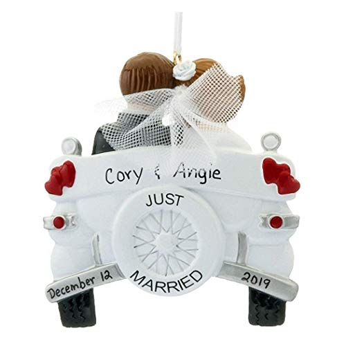 Personalized Wedding Ornament - First Christmas Married Ornament