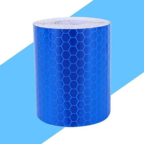 Akozon Alta Intensidad Pegatina Cinta Reflectante, Cinta Adhesiva Reflectante Seguridad Atención Banda Reflectante Azul