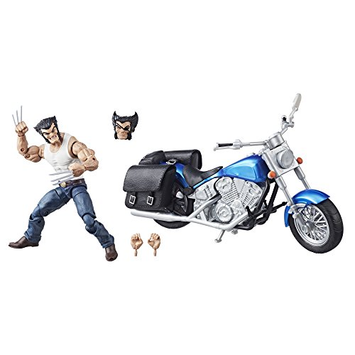 Marvel Avengers Legends Series 6-Inch Wolverine and Motorcycle Figura de acción