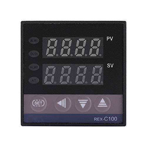 REX-C100 Alarma Industrial PID 0 ℃ ~ 1300 ℃ Controlador de Temperatura Interruptor de termostato Inteligente Funciones automáticas para energía eléctrica con Sensor de termopar K