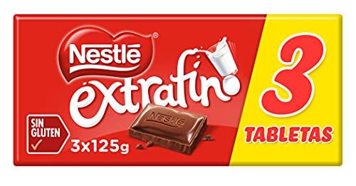 Nestlé - Chocolate con Leche Extrafino - 2 x (3 x 125 gramos)