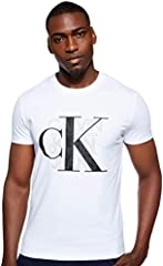 Calvin Klein CK Graphic Slim Stretch tee Camisa para Hombre Black