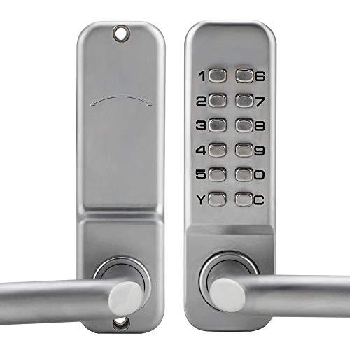 Digitales Türschloss, Tastatur-Kombinationsschloss, schränkt den Zugang zum Code ein, nur mit 1-11-stelliger Zahlenkombination für Büro-Innentür, Zinklegierung, 14,5 x 4,5 x 6,5 cm