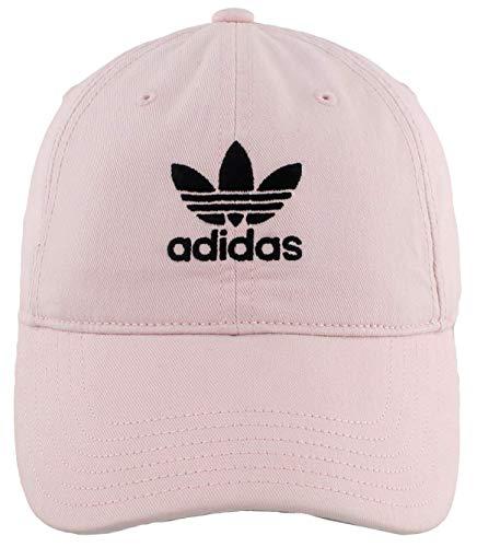 adidas Originals Damen Relaxed Adjustable Strapback Cap, Damen, Baseballkappen, Transparentes Pink/Schwarz, Einheitsgröße