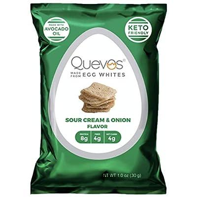 Quevos Keto Sour Cream and Onion Flavor - Low C...