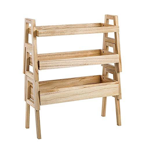 HS-01 Herausnehmbare Regale, Multi-Funktions-Roller Regale, Multi-Level-Küchenregale, 3 Schichten Bambus-Speicher-Korb, WC Storage Storage Rack/Primary HS-01