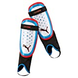 PUMA One 3 + Ankle Sock Schienbeinschoner, White-Azure Blue-Red Blast, M