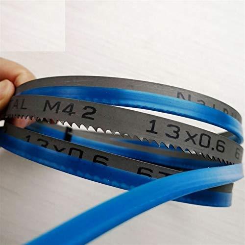 WNJ-Tools 8' 1400 * 13 * 0,6 mm * 6Tpi M42 Bi-Metal Sierras de Cinta 13 * 0.6 * 1400mm * 14Tpi Hojas de Sierra de Cinta de Corte de Madera y Metal Blando (tamaño : 2 Pieces 6 Teeth)