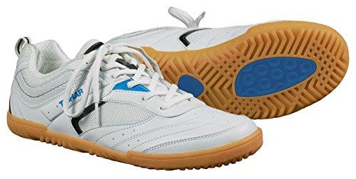 Tibhar Tischtennisschuh Progress Soft, rutschfest, leicht in 2 Farbkombinationen (weiß-blau, 43)
