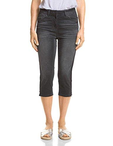 Cecil Damen 371482 Toronto Slim Jeans, Black Used wash, W32/L19