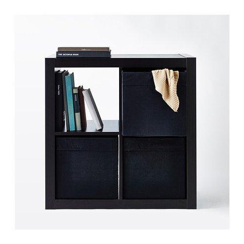lkea Drona - Caja de almacenamiento negra, 33 x 38 x 33 cm - para estantería Expedit - 2 unidades