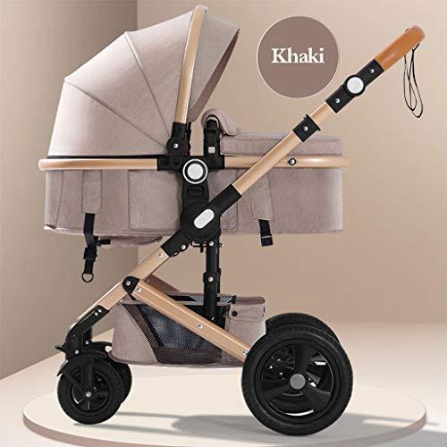 STRO Kinderwagen, Kinderwagen Kinderwagen-Buggy 3 In 1 Kinderwagen Reisesystem, Leichtgewicht Baby...