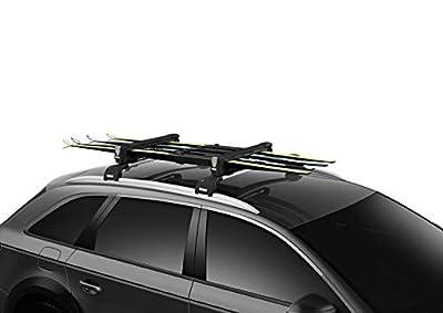 Thule SnowPack Ski/Snowboard Rack, 4 Pair-Black