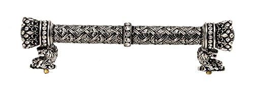 Carpe Diem Hardware 6123-9C Crowning Glory Queen Anne O.C. Pull with Swarovski Crystals, 6-Inch