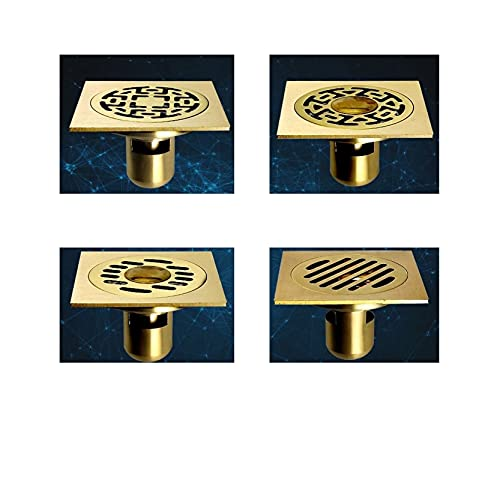 Useful Cubierta de Drenaje de Pisos de Oro Colander Ducha Drenura de residuos Full Brass Baño Cocina Colander Suelo Drenajes Accesorios de baño Convenient (Color : 3)